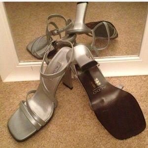 Aldo-Xcert-Silver dress sandals